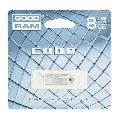 Goodram Flashdrive CUBE 8GB USB 2.0 Srebrny