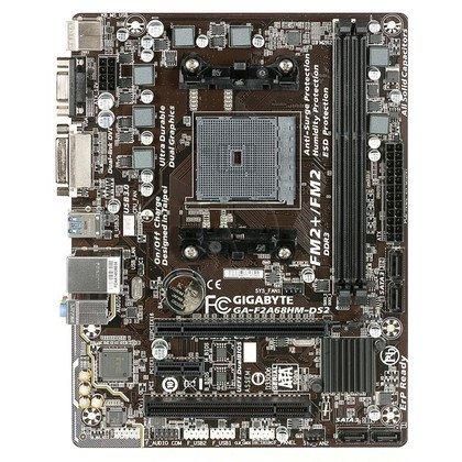 GIGABYTE GA-F2A68HM-DS2 A68H SFM2+ (PCX/DZW/GLAN/SATA3/USB3/RAID/DDR3/CROSSFIRE) mATX