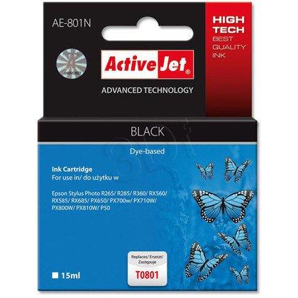ActiveJet AE-801N (AE-801) tusz czarny pasuje do drukarki Epson (zamiennik T0801)