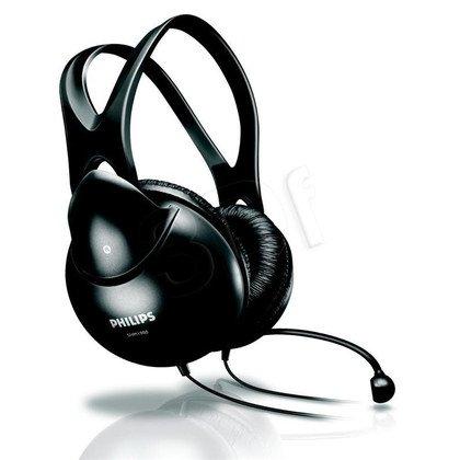 Słuchawki nauszne z mikrofonem Philips SHM1900/00 (Czarny)