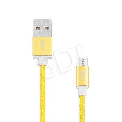 EXC UNIWERSALNY KABEL USB-MICRO USB, GLOSSY, 1.5 METRA, ŻÓŁTY