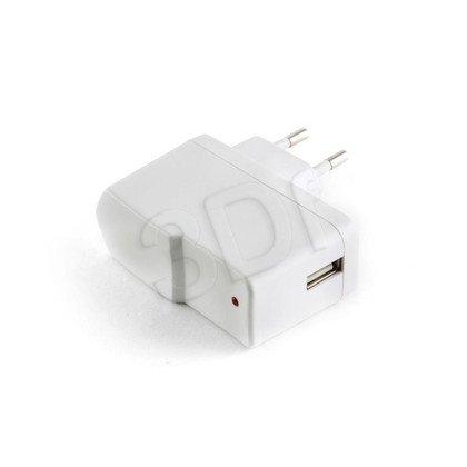 ŁADOWARKA ADAPTER 230V -> USB WHITE