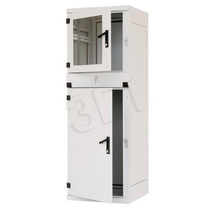 """Triton Szafa rack 19"""" przemysłowa stojąca RPA-37-A68-CCX-A1 (37U, 600x800mm, trzysekcyjna, kolor jasnoszary RAL7035 , klasa szczelności IP30)"""