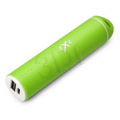 EXC POWERBANK 2200mAh, 1XUSB (1.0A), TUBE, ZIELONY