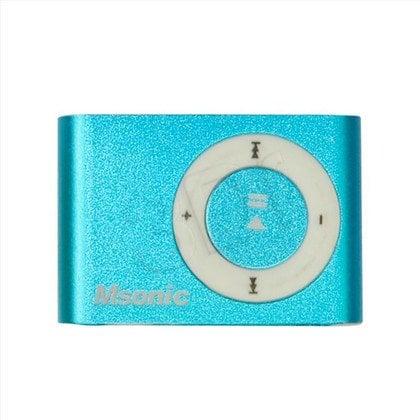 MSONIC ODTWARZACZ MP3 Z CZYTNIKIEM KART, SŁUCHAWKI, KABEL MINIUSB, ALUMINIUM MM3610B NIEBIESKI