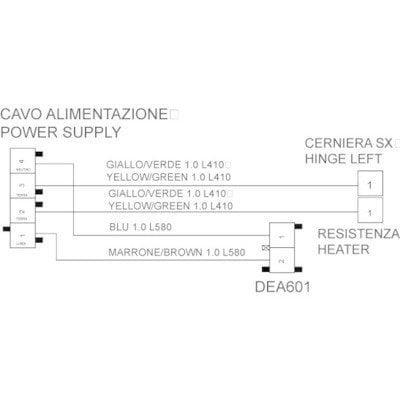 Okablowanie DEA601 – kabel zasilający (C00256988)