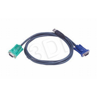 ATEN 2L-5202U Kabel HD15 - SVGA + mysz + klawUSB 2.0m