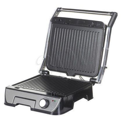 Grill elektryczny Tristar GR-2849 (2000W stołowy-zamykany, czarno-srebrny)