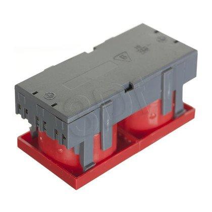 ALANTEC Gniazdo elektryczne 45x90 z kluczem, czer - 2x2P+Z