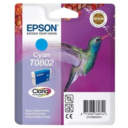 EPSON Tusz Niebieski T0802=C13T08024011, 8 ml