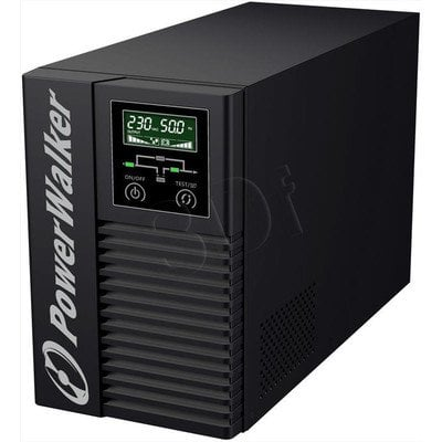 POWER WALKER UPS ON-LINE 2000VA, 6X IEC OUT, 2X RS-232, USB, LCD TOWER