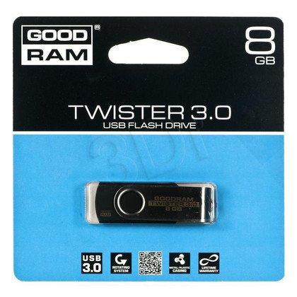 Goodram Flashdrive TWISTER 8GB USB 3.0 Czarny