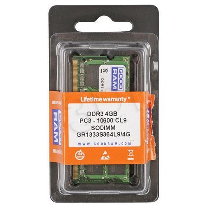 GOODRAM SO-DIMM DDR3 4096MB PC1333 CL9 256x8