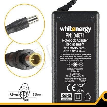 WHITENERGY ZASILACZ DO LAPTOPA LENOVO 20V 4.5A WTYK 7.9X5.5 +PIN