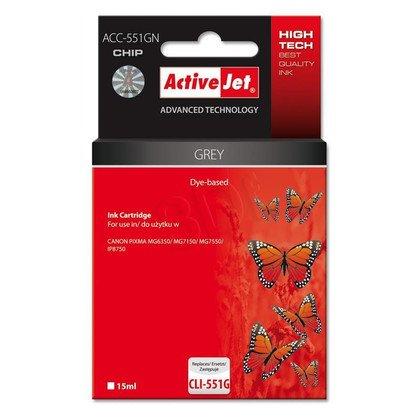 ActiveJet ACC-551GN tusz grey do drukarki Canon (zamiennik Canon CLI-551G) Supreme/ chip