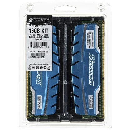 Crucial Ballistix DDR3 UDIMM 16GB 1866MT/s (2x8GB) BLS2C8G3D18ADS