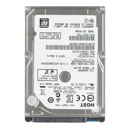 Dysk HDD HGST CinemaStar C5K1000 1TB SATA III 32MB 5400obr/min