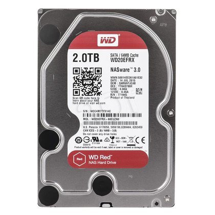 """Dysk HDD Western Digital RED NAS 3,5"""" 2TB SATA III 64MB WDBMMA0020HNC"""