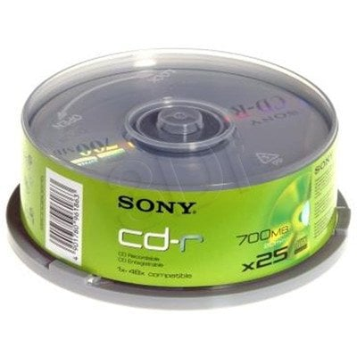 CD-R SONY 700MB/80MIN 48x CAKE 25PCS