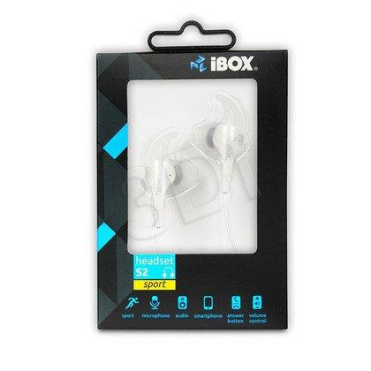 Słuchawki douszne z mikrofonem I-Box S2 Sport (biały)