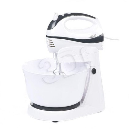 Mikser ręczny ADLER AD 4206 (300W/ biały/ misa)