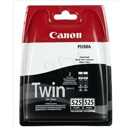 CANON Tusz Czarny PGI-525TWIN=PGI525PGBK Twin Pack=4529B010, Zestaw 2xBk, 2xPGI525PGBK