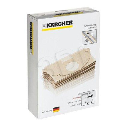 Papierowe torebki filtracyjne KARCHER 6.904-322.0 do WD 2, MV 2