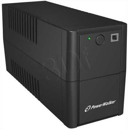 POWER WALKER UPS LINE-INTERACTIVE 650VA 2X 230V PL OUT, RJ11 IN/OUT, USB