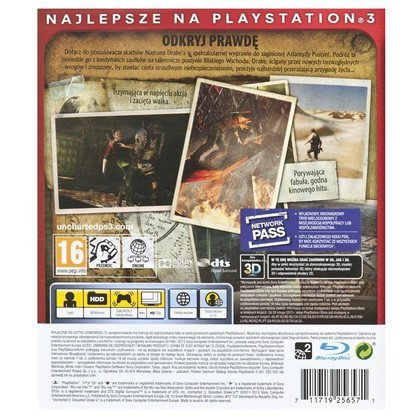 "Gra PS3 Uncharted 3 Oszustwo Drake""a Essentials"