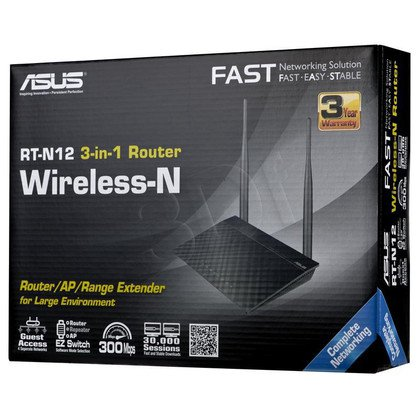 ASUS RT-N12 vD Diamond xDSL WiFi Router 300Mbps