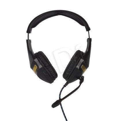 Słuchawki nauszne z mikrofonem 4World 09962 (Czarno-złoty)