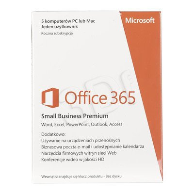MS Office 365 Small Bus Prem 32/64 Polish Sub 1YR