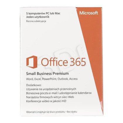 MS Office 365 Small Bus Prem 32/64 Polish Sub 1YR
