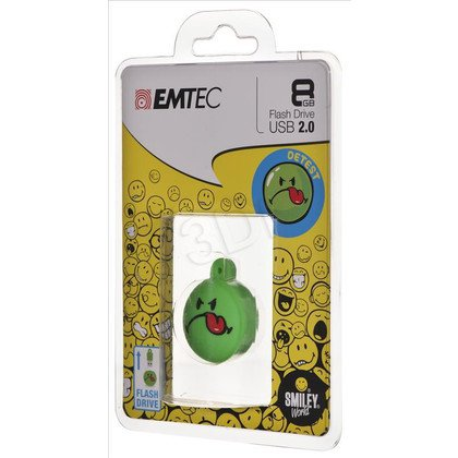 Emtec Flashdrive Smiley World 8GB USB 2.0 zielony