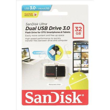 Sandisk Flashdrive ULTRA DUAL 32GB USB 3.0 Czarny