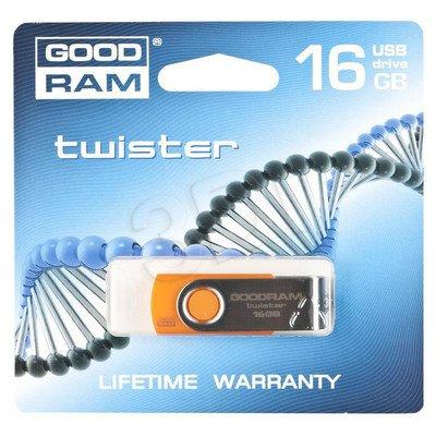 Goodram Flashdrive TWISTER 16GB USB 2.0 Pomarańczowy