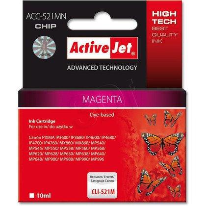 ActiveJet ACC-521M (ACC-521MN) tusz magenta do drukarki Canon (zam. CLI-521M) (CHIP)