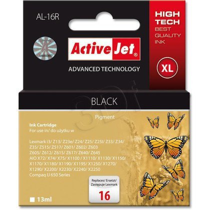 ActiveJet AL-16R tusz czarny do drukarki Lexmark (zamiennik Lexmark 16 10N0016)