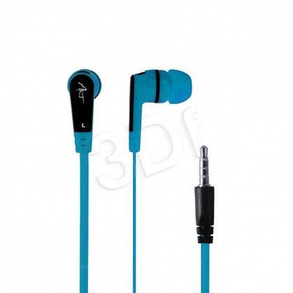 Słuchawki douszne z mikrofonem ART S2E (niebieski)