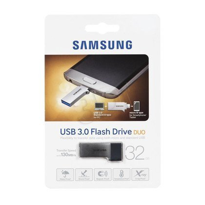 Samsung Flashdrive MUF-32CB/EU 32GB USB 3.0 Srebrno-czarny