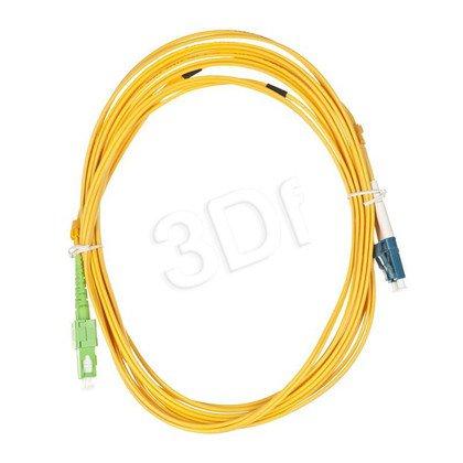 ALANTEC patchcord światłowodowy SM LSOH 5m SC/APC-LC duplex 9/125 żółty