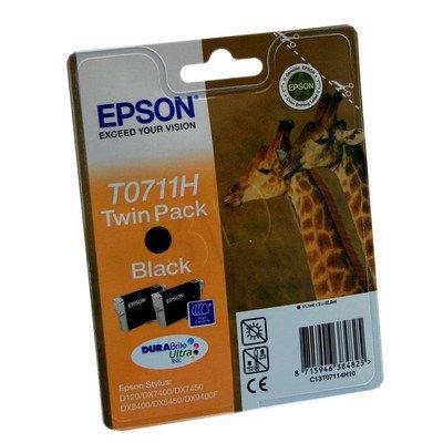 EPSON Tusz Czarny T0711H=C13T07114H10, 2x11.1 ml