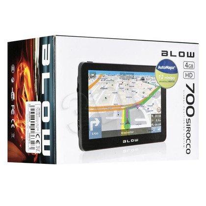 NAWIGACJA BLOW SIROCCO GPS700 + AUTOMAPA PL 1 ROK