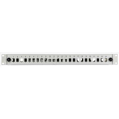 """Alantec FO Panel światłowodowy / Przełącznica 24xSC simplex 19"""" 1U z akcesoriami (dławiki, śruby, opaski)"""