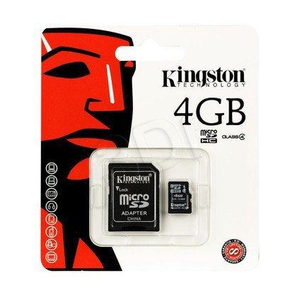 KINGSTON MICRO SD SDC4/4GB + ADAPTER