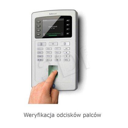 SAFESCAN SYSTEM REJESTRACJI CZASU PRACY TA-8035 CZUJNIK ODCISKÓW PALCÓW/CZYTNIK RFID/KONTROLA LAN+WIFI/EKRAN TFT/KOLOR SZARY