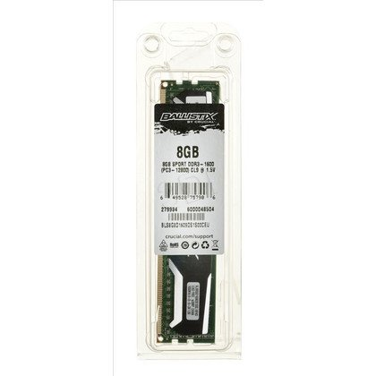 Crucial Ballistix DDR3 UDIMM 8GB 1600MT/s (1x8GB) BLS8G3D1609DS1S00CEU