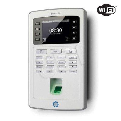 SAFESCAN SYSTEM REJESTRACJI CZASU PRACY TA-8025 CZUJNIK ODCISKÓW PALCÓW/KOD PIN/KONTROLA LAN I WIFI/EKRAN TFT/KOLOR SZARY