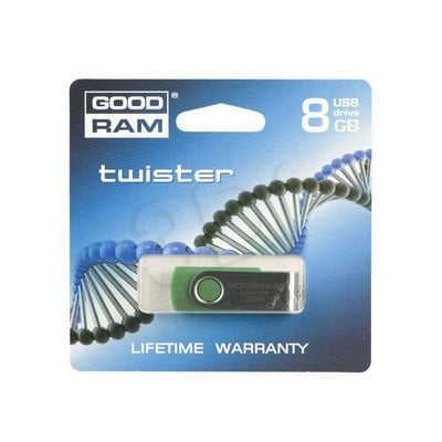 GOODDRIVE FLASHDRIVE 8192MB USB 2.0 TWISTER D.Green