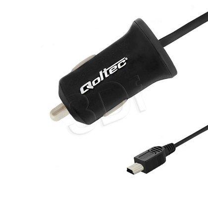 QOLTEC ŁADOWARKA SAMOCHODOWA 12W 5V 2.4A MINI USB 1.4M